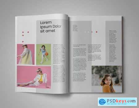 Girle Indesign Magazine Template