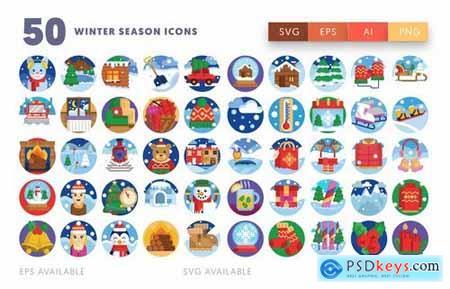 Winter Season Icons