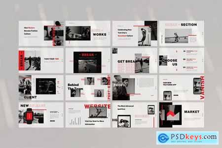 Vanish Powerpoint and Keynote Templates