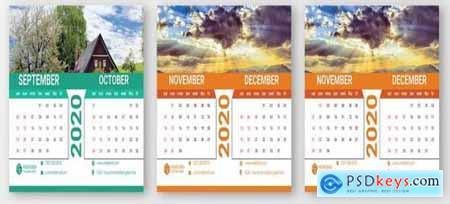 Desk Calendar design template 2020998