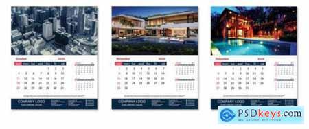 Desk Calendar design template 2020468