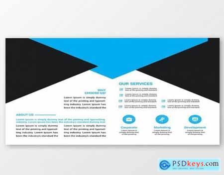 Business Bi-fold Brochure Design Template