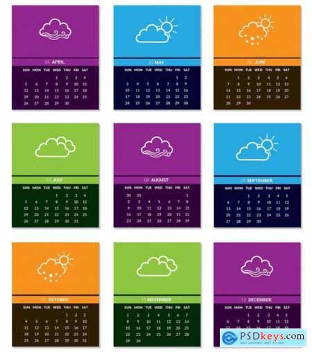 Desk Calendar design template 2020