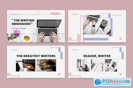 Author PowerPoint Presentation Template