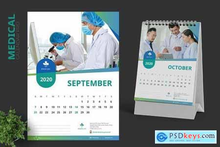 2020 Clean Medical Hospital Calendar Pro