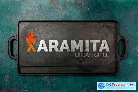 Letter Fire Grill Logos