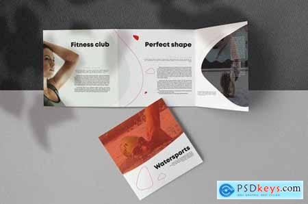 Sport Fitness Square Trifold Brochure