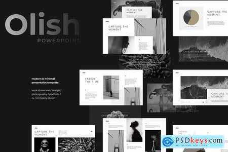 OLISH - Elegant & Minimal Powerpoint and Google Slides Templates