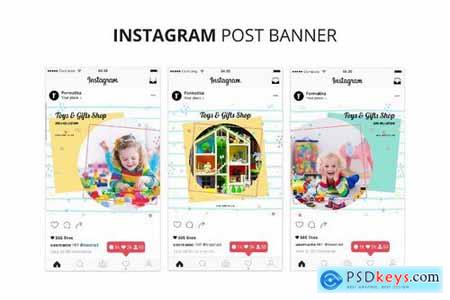 Toys & Gift Shop Instagram Post Banner