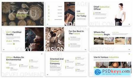 Kayu - Craftsman Powerpoint Template