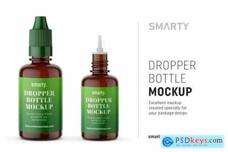 Amber dropper bottle mockup 4359962