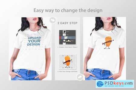 Female t-shirt Mockup-V-2-004 4180296