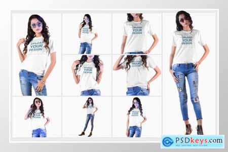 Female t-shirt Mockup-V-2-005 4180772