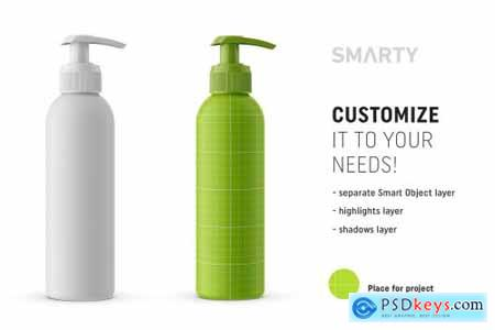Matt pump bottle mockup 4359603
