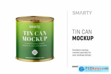 Tin can mockup 4359426