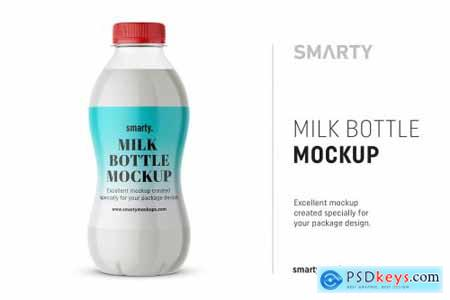 Milk bottle mockup 4360319