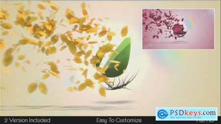 Videohive Flying Leaves Logo Reveal 5600095