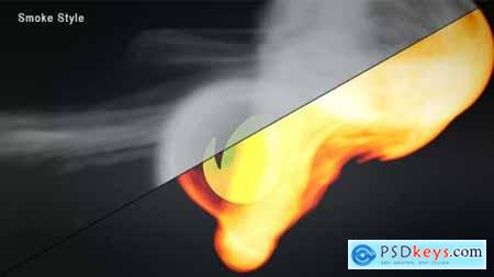 Videohive Smoke And Fire Logo Reveal 5177770