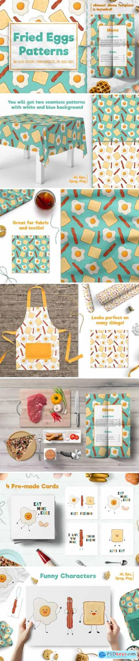 Fried Eggs Patterns and Prints 2202719