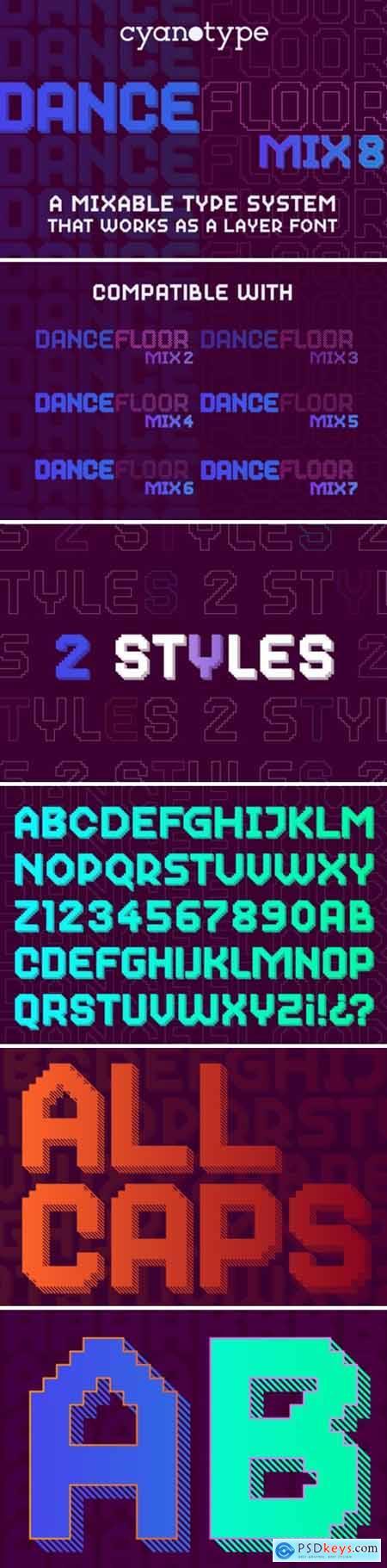 Dance Floor Mix 8 Font