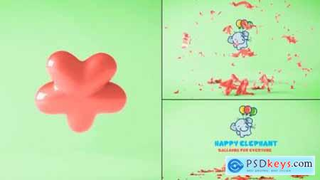 Videohive Balloon Logo Reveal 20054104
