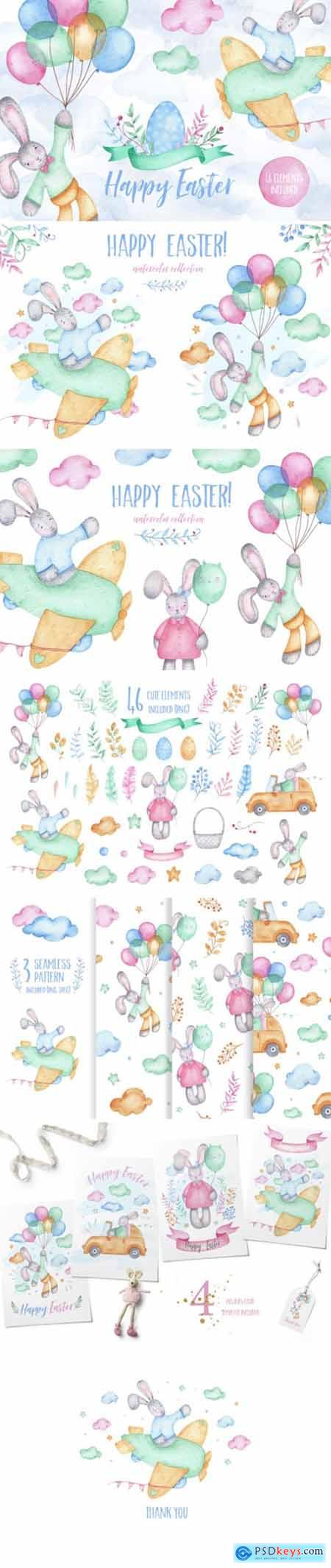 Happy Easter - Watercolor Clipart 2194126