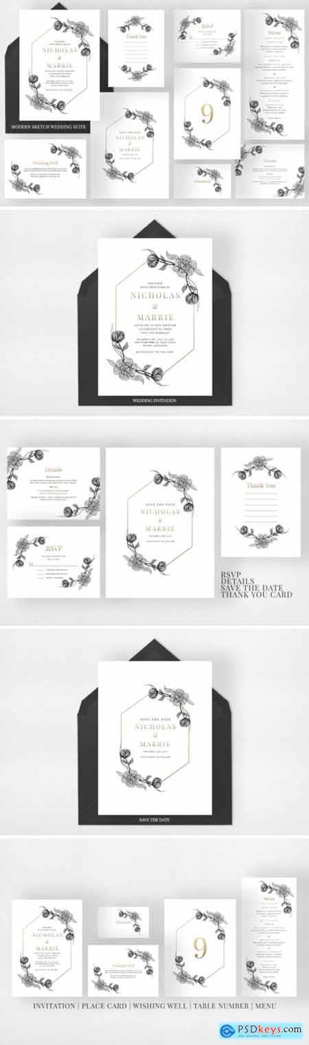 Modern Sketch Wedding Suite 2194524