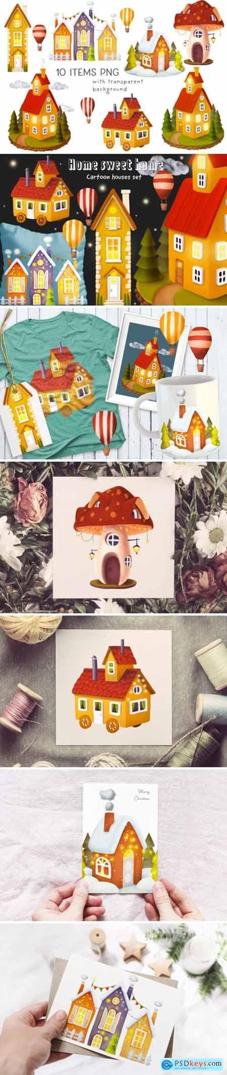 House Illustrations Set 2197126