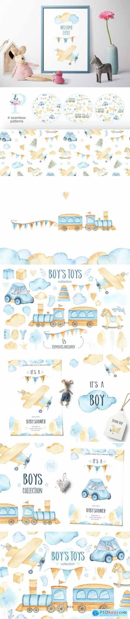 Boys Toys - Watercolor Collection 2194045