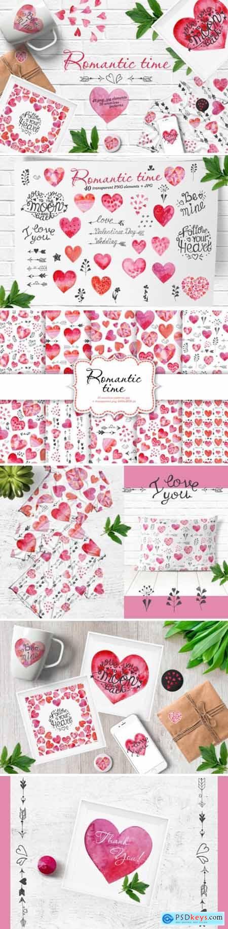 Watercolor Valentines Day Set 2195994