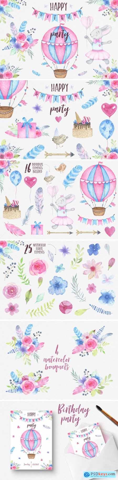 Watercolor Birthday Party 2194186