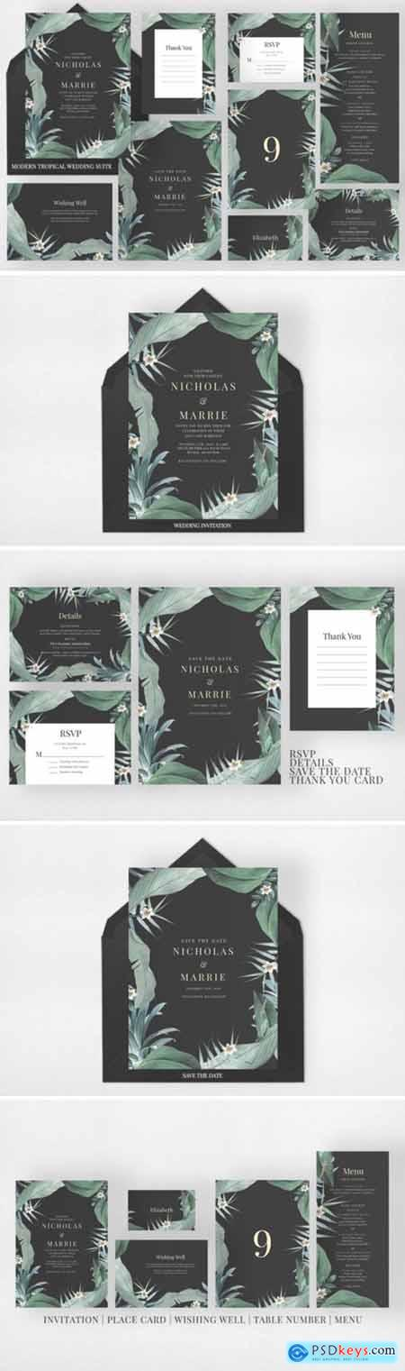 Modern Tropical Wedding Suite 2194588