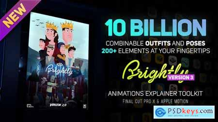 Videohive Brightly V3 Animations Explainer Toolkit Final Cut Pro X & Apple Motion 25224269