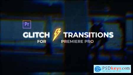 Videohive Glitch Transitions for Premiere Pro 25152760