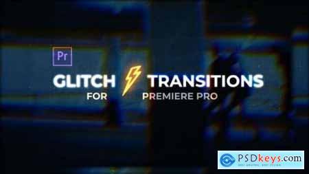 Videohive Glitch Transitions for Premiere Pro 25152760