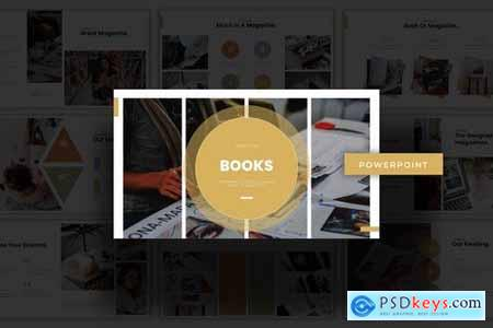Books - Powerpoint Google Slides and Keynote Templates