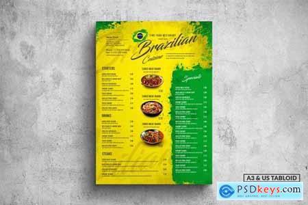 Brazilian Poster Food Menu - A3 & US Tabloid