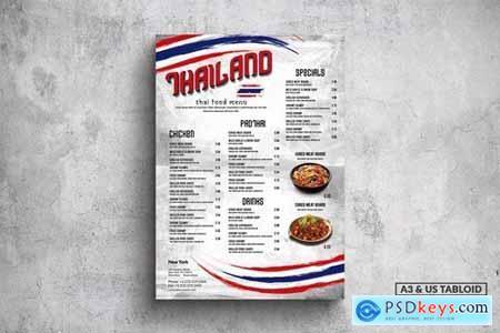 Thai Cuisine Poster Food Menu - A3 & US Tabloid