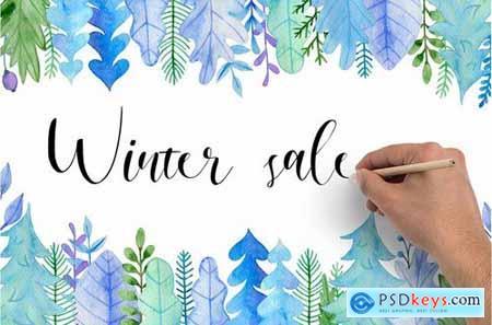 Winter Watercolor Design Kit