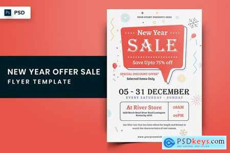 New Year Sales Offer Flyer-12