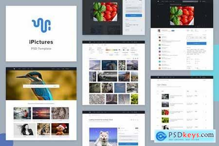 iPictures Stock Image Website PSD Template