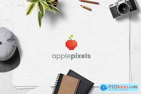 Apple Pixels Logo Template