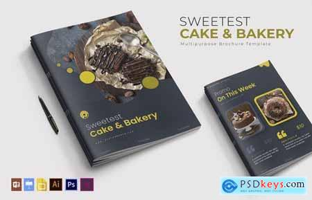 Sweetest Cake & Bakery Brochure Template