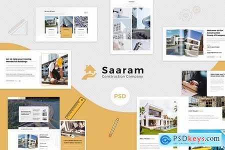 Saaram Construction PSD Template