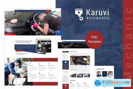 Karuvi Car Mechanic PSD Template