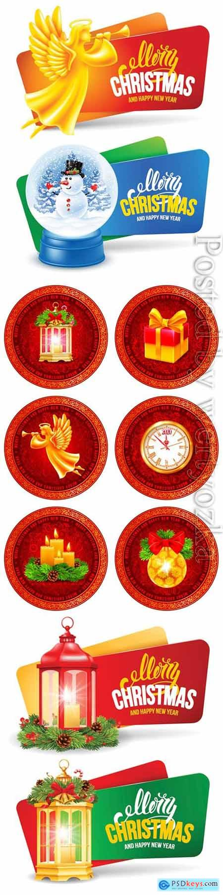 Christmas and New Year elements in vector