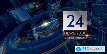 Videohive Breaking NEWS 24 TV Broadcast Package- Business and Political Summit- Glass Cube Intro- HUD UI Text 14273486