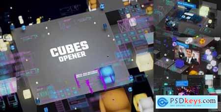 Videohive TV Broadcast Cubes Opener Modern HUD and UI Intro YouTube Technology Reviewers 21381227