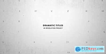 Videohive Dramatic Titles- Movie and Film Text Intro- True Detective- Trailer Crime Story- VHS- Police & Spy 15715425