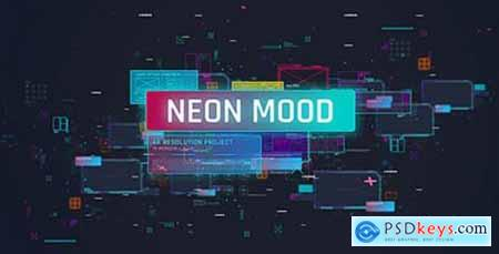 Videohive Neon Mood Slideshow- Bright Coloful Slide- 3D Camera Move- HUD UI Stylish Promo- Digital Transitions 19460533